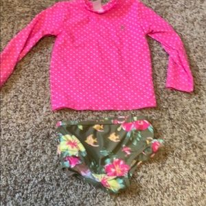 Toddler bikini with rash quard